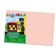 Riverside Construction Paper, 76 lbs., 12 x 18, Salmon, 50 Sheets/Pack