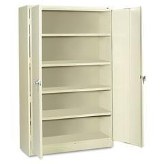 Assembled Jumbo Steel Storage Cabinet, 48w x 24d x 78h, Putty
