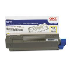 Oki 44315301 Toner, 6,000 Page-Yield, Yellow