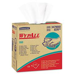 WypAll* X60 Wipers, POP-UP Box, White, 9 1/8 x 16 4/5, 126/Box