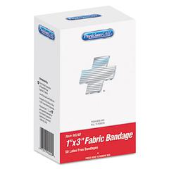 """PhysiciansCare by First Aid Only XPRESS First Aid Kit Refill, Bandages, 1"""" x 3"""" Fabric, 50/Box"""