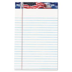 American Pride Writing Pad, Narrow, 5 x 8, White, 50 Sheets, Dozen