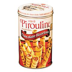 De Beukelaer Chocolate Hazelnut Pirouline Rolled Wafers, 14oz