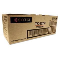 Kyocera TK827M Toner, 7,000 Page-Yield, Magenta