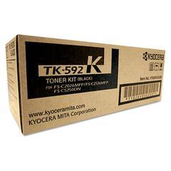 Kyocera TK592K Toner, 7,000 Page-Yield, Black