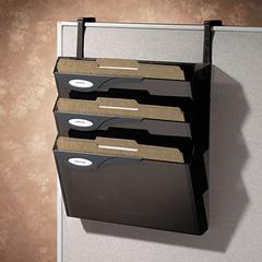 Classic Four-Pocket Hanger Set for Partitions, Legal/Printout, Smoke