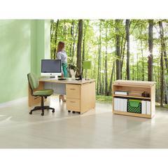 Alera Sedina Series Bookcase, Two-Shelf, 36w x 15d x 30h, Maple