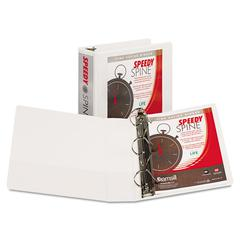 "Samsill Speedy Spine Heavy-Duty D-Ring View Binder, 11 x 8 1/2, 3"" Cap, White"