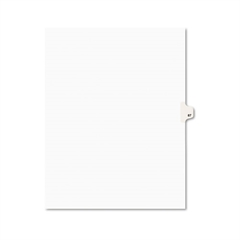 Avery-Style Legal Exhibit Side Tab Divider, Title: 87, Letter, White, 25/Pack