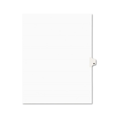 Avery Avery-Style Legal Exhibit Side Tab Divider, Title: 89, Letter, White, 25/Pack