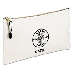 "Utility Canvas Zipper Bag, 12 1/2""w x 7""h"