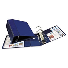 """Avery Heavy-Duty Binder with One Touch EZD Rings, 11 x 8 1/2, 5"""" Capacity, Navy Blue"""