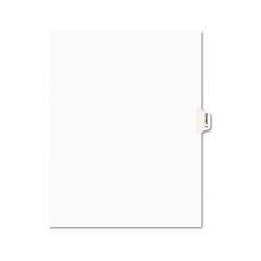 Avery-Style Preprinted Legal Side Tab Divider, Exhibit Y, Letter, White, 25/Pack