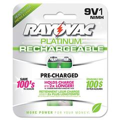 Rayovac Recharge Plus NiMH Batteries, 9V, 1/Pack