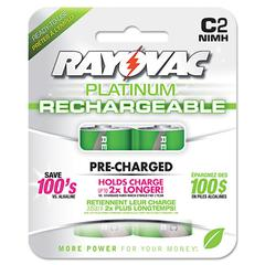 Rayovac Recharge Plus NiMH Batteries, C, 2/Pack