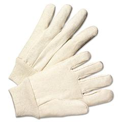 Anchor Brand Light-Duty Canvas Gloves, White, Dozen