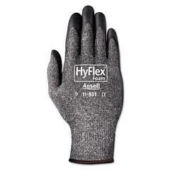 AnsellPro HyFlex Foam Gloves, Dark Gray/Black, Size 10, 12 Pairs