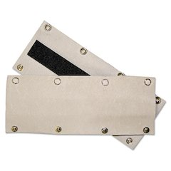 Snap-On Sweatband, Leather, Brown