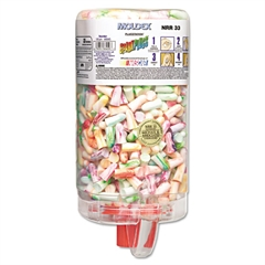 Moldex SparkPlugs PlugStation Earplug Dispenser, Cordless, 33NRR, Asst, 500 Pair