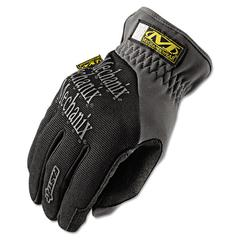 FastFit Work Gloves, Black/Gray, Large