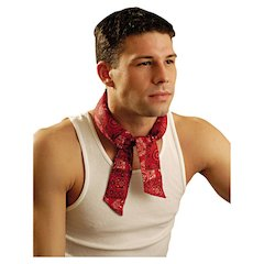 Miracoll Bandana, Cowboy Red, One Size Fits All