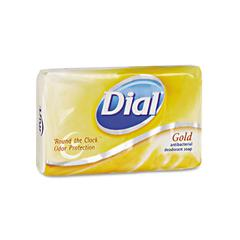 Dial Deodorant Bar Soap, Pleasant, Gold, 4oz Bar, 72/Carton