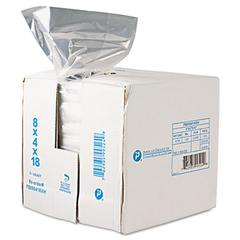 Inteplast Group Get Reddi Food & Poly Bag, 8 x 4 x 18, 8-Quart, 0.68 Mil, Clear, 1000/Carton