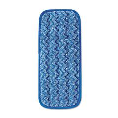 Rubbermaid Commercial Microfiber Wall/Stair Wet Mopping Pad, Blue, 13 3/4w x 5 1/2d x 1/2h, 6/Carton