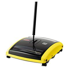 "Rubbermaid Commercial Brushless Mechanical Sweeper, 44"" Handle, Black/Yellow"
