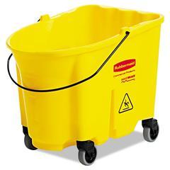 Rubbermaid Commercial WaveBrake Bucket, 8.75gal, Yellow