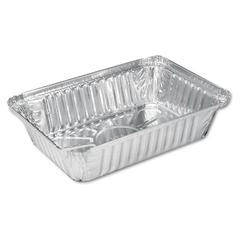 Aluminum Oblong Pan, 2 1/4 lb, 8 1/2 x 5 15/16 x 1 13/16, 500/Carton