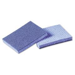 Soft Scour Scrub Sponge, 3 1/2 x 5 in, Blue, 40/Carton