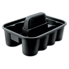 Rubbermaid Commercial Deluxe Carry Caddy, 8-Comp, 15w x 7 2/5h, Black