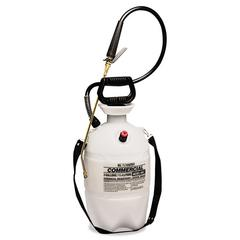 Commercial-Grade Sprayer w/Flat Fan Nozzle, 3 Gallon, Polyethylene, White/Black