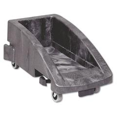 Rubbermaid Commercial Slim Jim Trolley, 200 lbs, Black