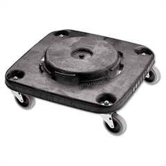 Rubbermaid Commercial Brute Container Square Dolly, 250 lb Capacity, Black