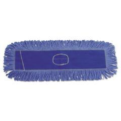 Boardwalk Mop Head, Dust, Looped-End, Cotton/Synthetic Fibers, 24 x 5, Blue