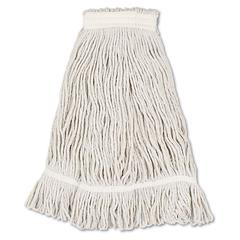 Boardwalk Mop Head, Loop Web/Tailband, Value Standard, Cotton, No. 32, White, 12/Carton