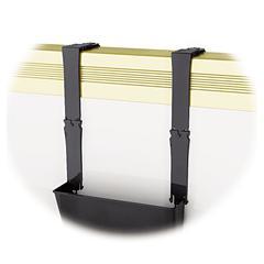 Break-Resistant Plastic Partition Brackets w/Extension, 1 3/4 x 3, Black, 2/Set
