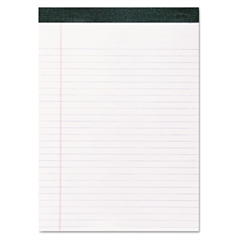 Recycled Legal Pad, 8 1/2 x 11 Sheets, 40/Pad, White, Dozen