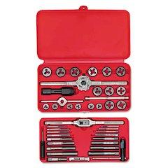 SAE Machine-Screw/Fractional Tap & Die Set, 41-Piece