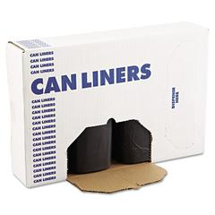 SH-Grade Can Liners, 38 x 58, 60gal, 1.2mil, Black, 10 Bags/Roll, 10 Rolls/CT