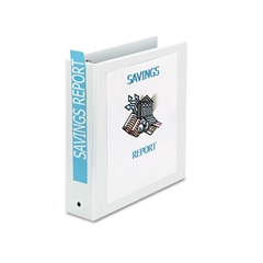 "Economy View Binder w/Round Rings, 11 x 8 1/2, 2"" Cap, White"