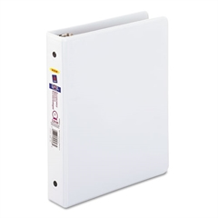 "Avery Economy View Binder w/Round Rings, 8 1/2 x 5 1/2, 1"" Cap, White"