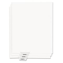 """Kleer-Fax 80000 Series Legal Index Dividers, Bottom Tab, Printed """"Exhibit K"""", 25/Pack"""