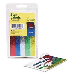 "Avery Colored Foil Stars, 1/2"" dia, Assorted Colors, 440/Pack"