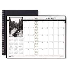 Monthly Planner w/Black-&-White Photos, 8-1/2 x 11, Black, 2016-2018