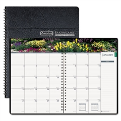 House of Doolittle Gardens of the World Ruled Monthly Planner, 7 x 10, Black, 2017