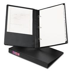 """Legal Durable Non-View Binder with Round Rings, 14 x 8 1/2, 1"""" Capacity, Black"""