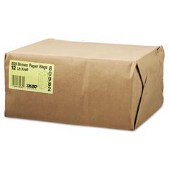 General #12 Paper Grocery Bag, 40lb Kraft, Standard 7 1/16 x 4 1/2 x 13 3/4, 500 bags